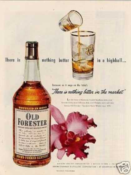 Old Forester Bourbon Whiskey (1951)