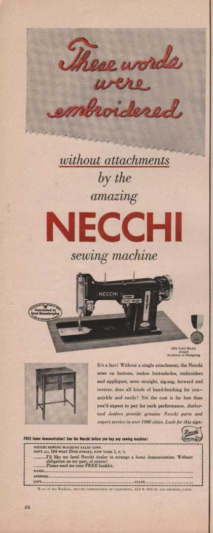 Necchi Sewing Machine (1951)