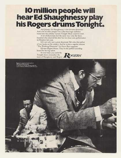 Ed Shaughnessy Rogers Drums Photo (1971)
