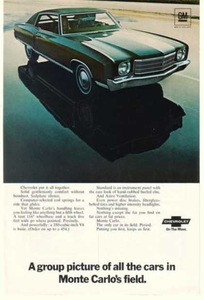 Chevy Monte Carlo Only Car in its Field (1970)
