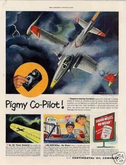 "Conoco Oil Ad ""Pigmy Co-pilot... (1951)"