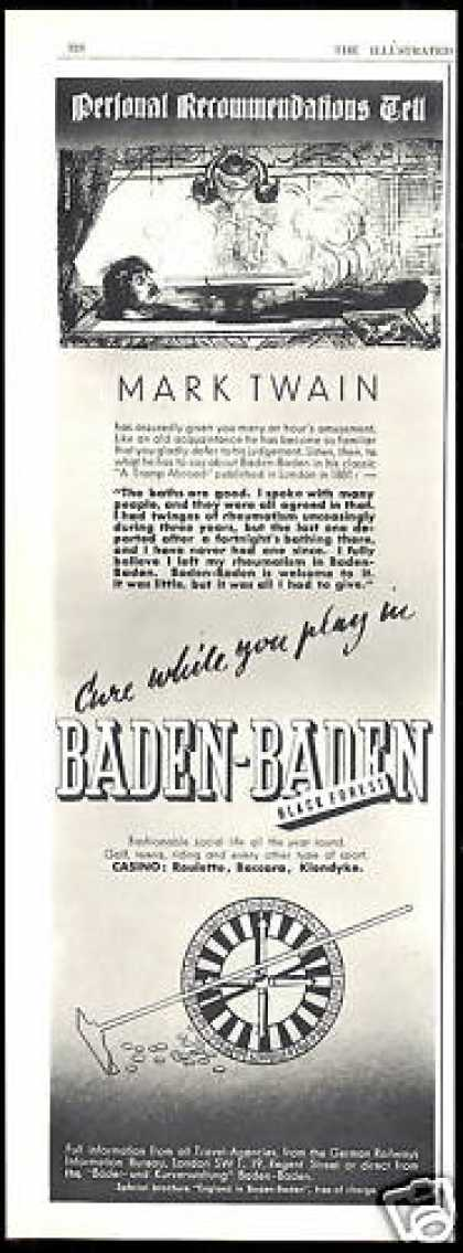 Baden Baden Black Forest Baths Treatment (1938)