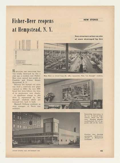 Fisher-Beer Store Hempstead NY Photo Trade Article (1948)