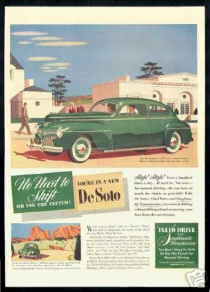 De Soto Green 2 Door DeSoto Vintage Art Car (1941)