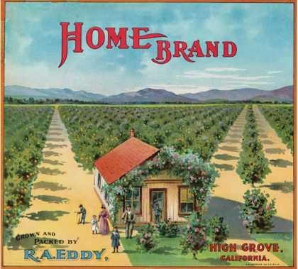 Highgrove, California, Home Brand Citrus Label