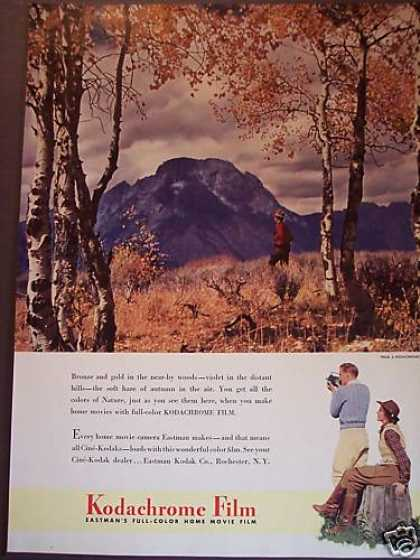 Autumn Mountain Scene Kodachrome Movie Film (1941)