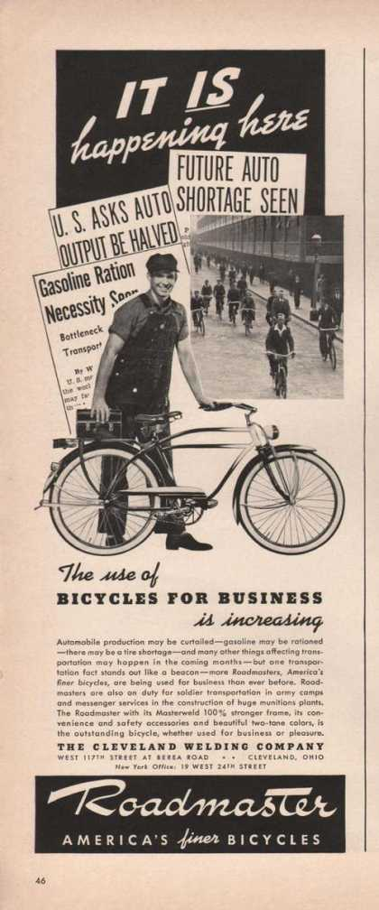 Roadmaster Finer Bicycles (1941)