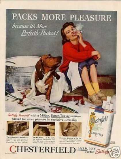 Chesterfield Cigarettes Ad Dachshund (1956)