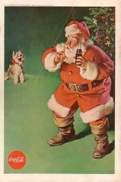 Coke Santa and Terrier (1961)