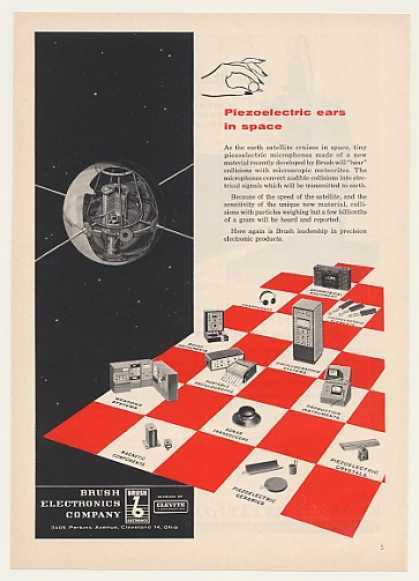 Earth Satellite Brush Electronics Piezoelectric (1957)