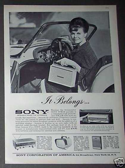 Sony Tfm 95 Portable Radio (1962)