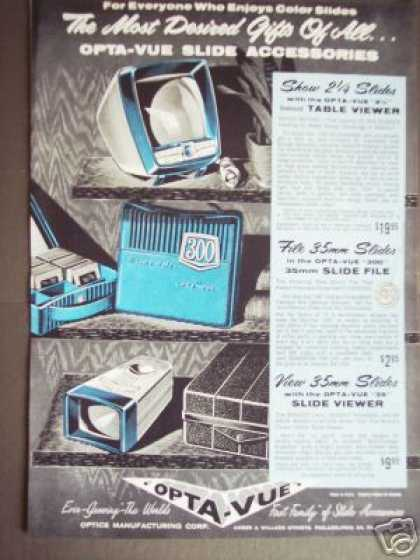 Opta-vue Slide Table Viewer Photography (1957)