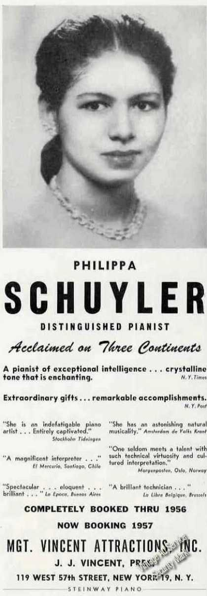 Philippa Schuyler Photo Pianist Booking (1955)