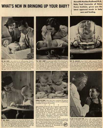 H. J. Heinz Company's Heinz Strained Foods – What's New In Bringing Up Your Baby? (1945)