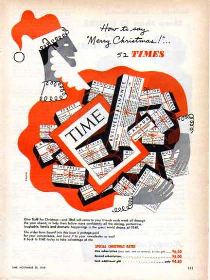 Time Magazine Subscription Holiday (1948)