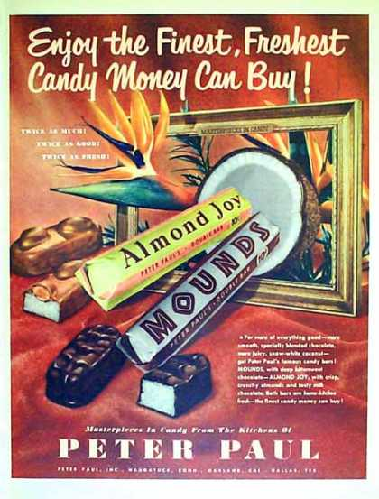 Peter Paul Candy Bar – Almond Joy & Mounds (1951)
