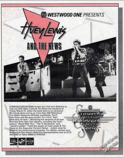 Huey Lewis & the News Photo Rare Concert Promo (1987)