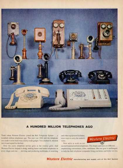 Western Electric Dial Telephone Office Phone Ad T (1959)