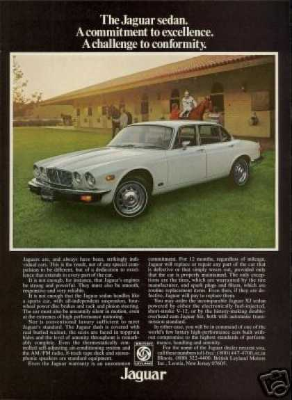 Jaguar XJ X-J Horse Stable Photo Vintage Car (1976)