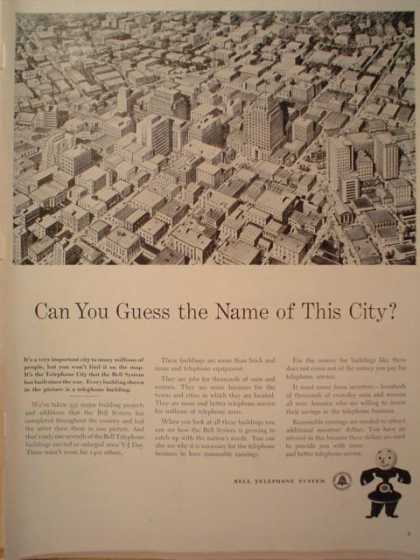 Bell Telephone Guess the name of this city (1949)
