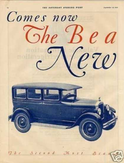 Jewett Car Ad 2 Page (1926)