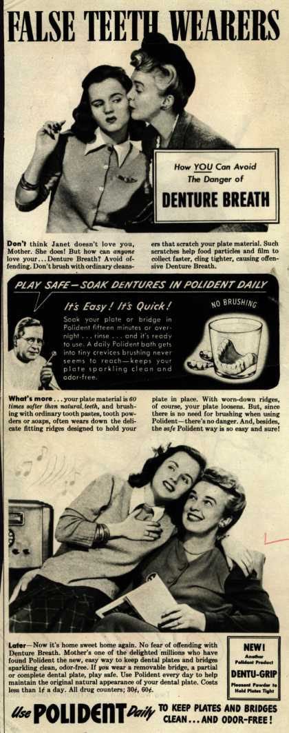 Polident – False Teeth Wearers (1945)