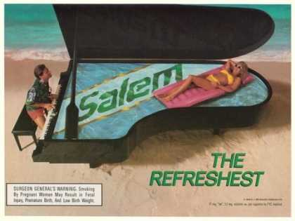 Salem Cigarette Pool Piano on Beach (1990)