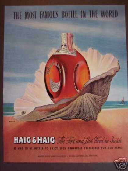 Haig & Haig Scotch Whisky Art By Kapra (1947)