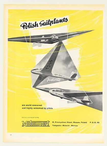 Motoimport Polish Sailplanes Sail Planes (1955)
