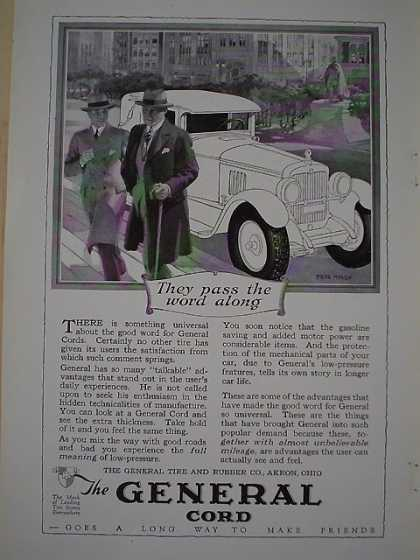 General Cord Tire and Rubber Co Pass the word along (1926)