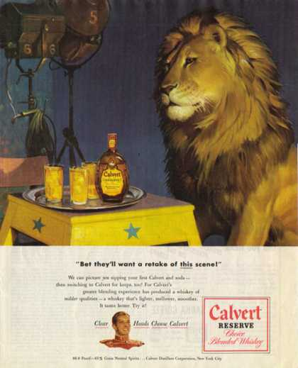 Calvert Whisky – Proud Golden Lion (1948)