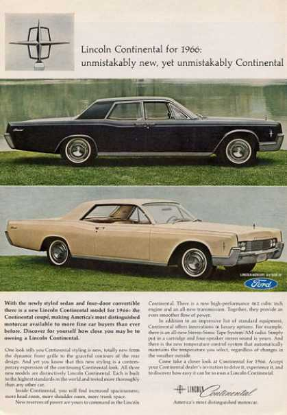 Ford Lincoln Continental Black & Beige (1965)