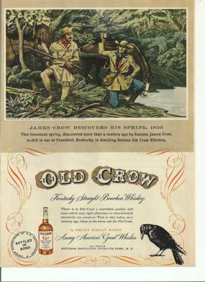 Old Crow Bourbon Whiskey (1949)