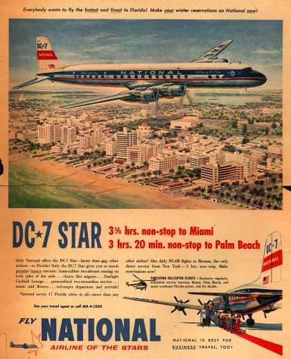 National Airline's Florida – DC-7 Star (1954)