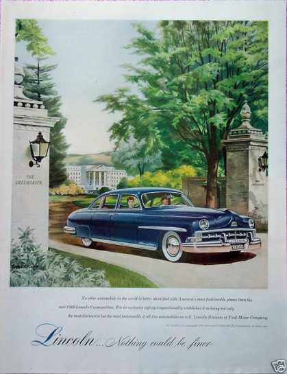 Lincoln Cosmopolitan The Greenbrier Gates Finer (1950)