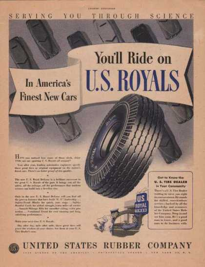 U S Rubber Company Us Royals Tires Print A (1946)