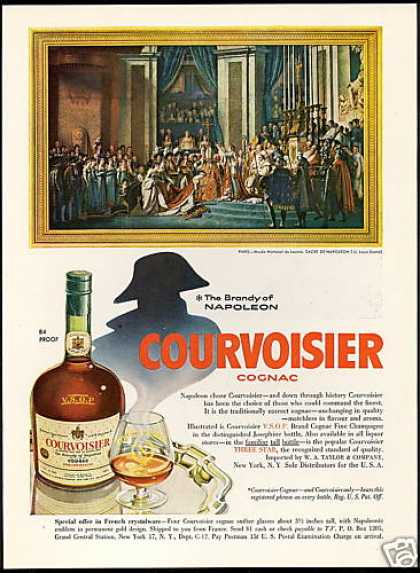 Courvoisier Cognac Napoleon Bonaparte Paris Art (1956)