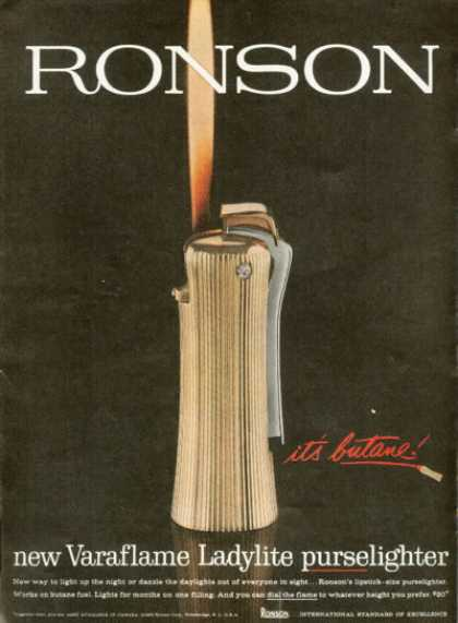 Ronson Varaflame Ladylite Purselighter (1961)