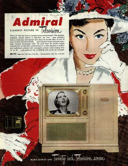 Admiral Corporation's Television – Admiral, Clearest Picture in Television. (1951)