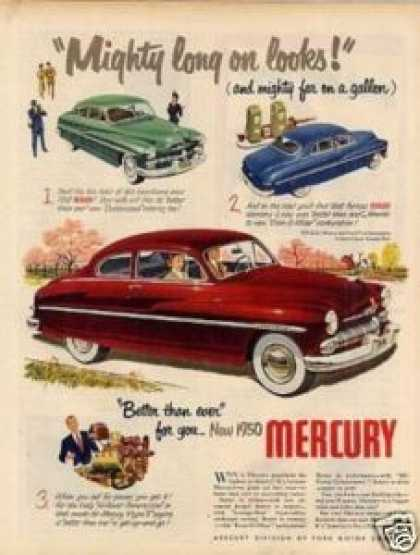 "Mercury Car Ad ""Mighty Long On Looks"" (1950)"