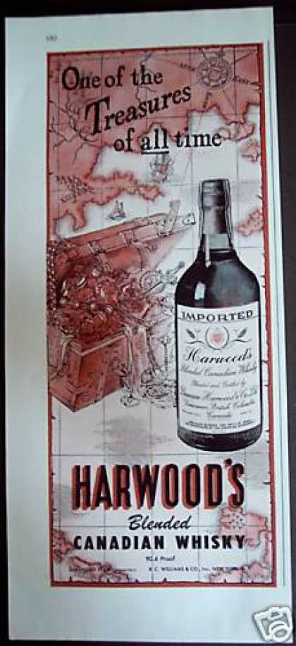 Harwood's Canadian Whisky Treasure Chest (1946)
