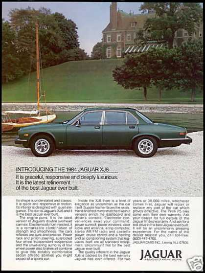 Jaguar XJ6 Green Sedan Photo Vintage Car (1984)