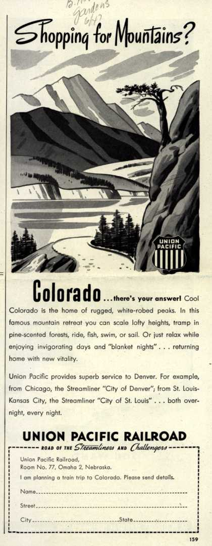 Union Pacific Railroad's Streamliner – Daily Streamliner Service to and from the West (1947)