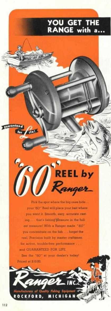 Ranger 60 Fishing Reel Rockford Mi (1947)