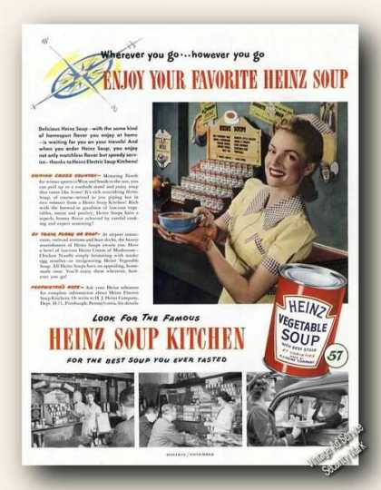 Heinz Vegetable Soup Nice Color (1948)