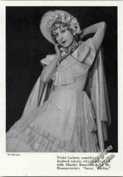 Violet Carlson Theatre Print Photo (1926)