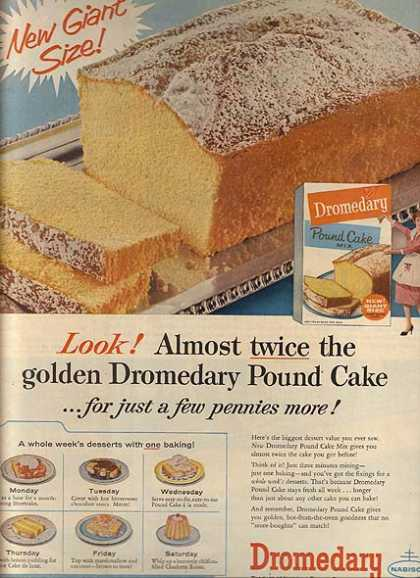 Nabisco's Dromedary Pound Cake Mix (1959)