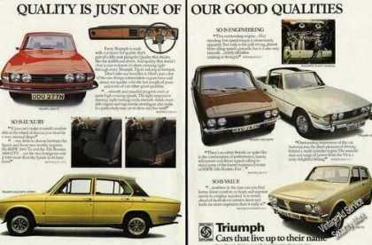 Triumph Car Photos (5) Uk (1974)