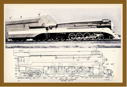 Train Drawing and Photo (1944)