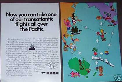 Boac Airways Airline To the Pacific (1967)
